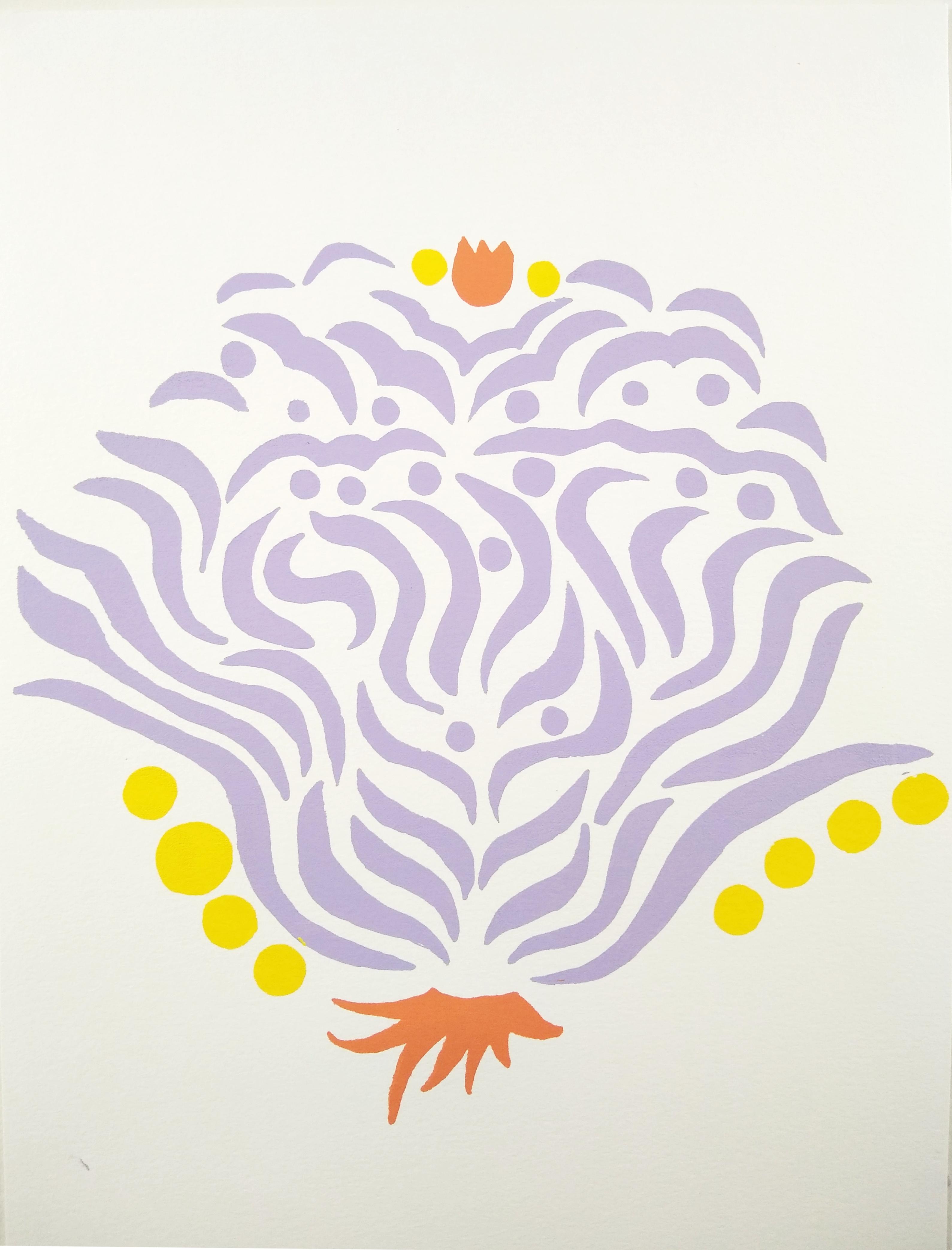 Lavender Crest print
